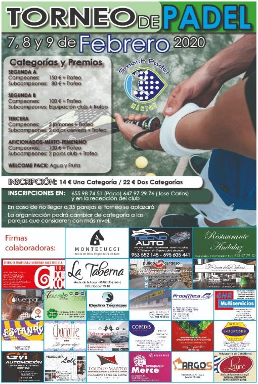 cartel del próximo torneo a disputar en smashpadelmaros en enero de 2017